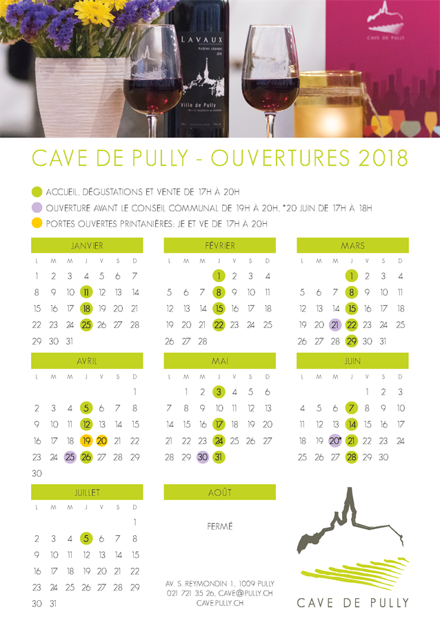 Horaires Cave 2018